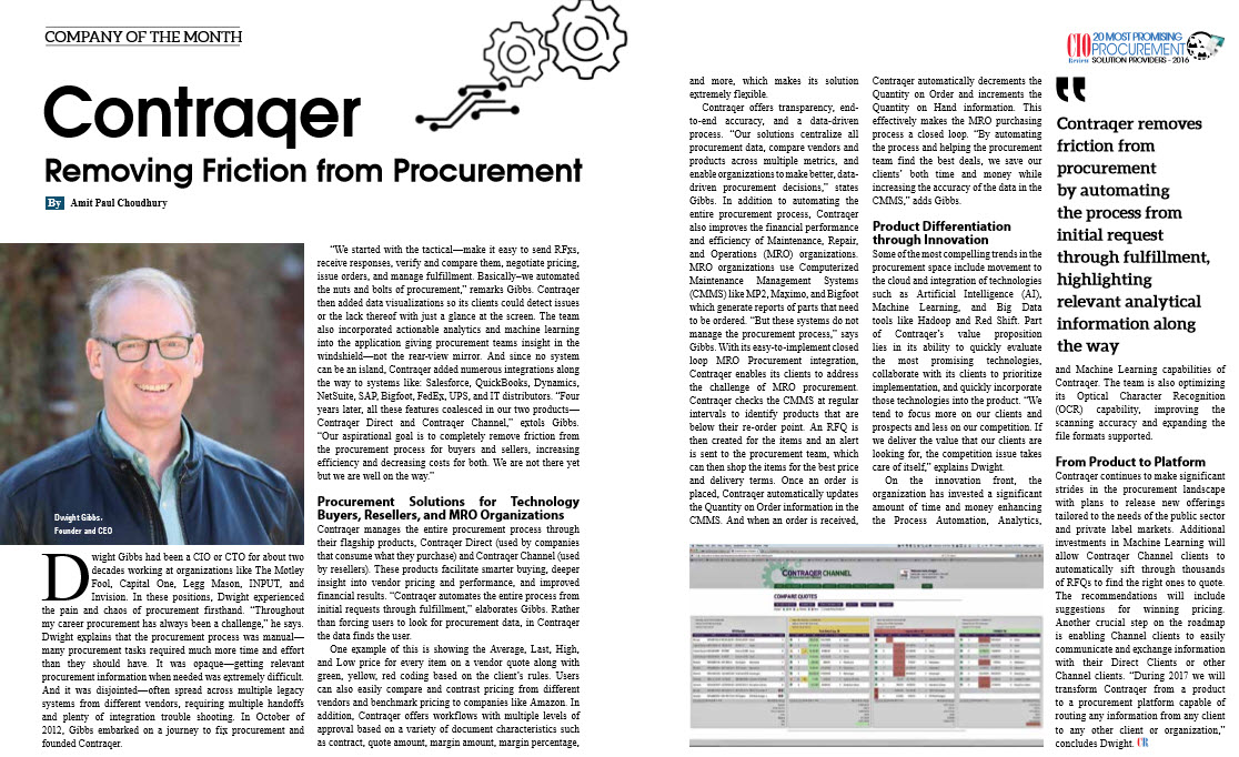 Removing Friction from Procurement